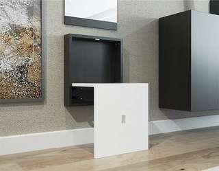 (PO) Wall Mounted Folding Chair w/wo Mirror
