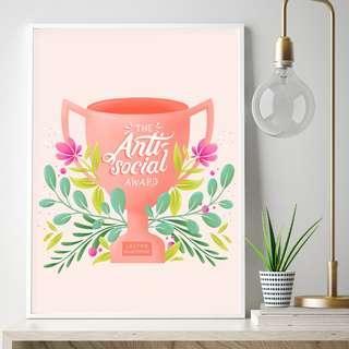 #SparkJoyChallenge - The Anti Social Award Poster Typography