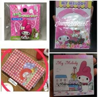 🚚 [Juniorcloset] 🆕️ Authentic Sanrio Kuro Kuro My Melody little forest fellow book cover Melody notebook Melody sticker My melody cable organizer