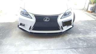 Universal front bumper V-Lip with installation $200