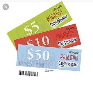 $380 for $350 Capitaland Voucher