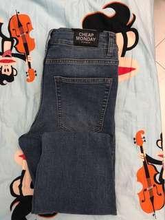 Cheap Monday Super Skinny Jeans (Mode Blue)