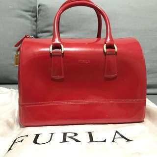 Furla jelly bag merah