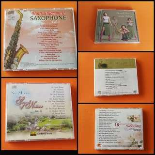 """CD Saxophone, Spa mood:Sound of nature vol4, Utada Hiraku album """"wait & see"""", Mozart Classical, Wedding songs. Detail price and description in respective listings"""