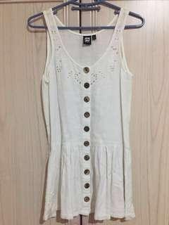Rusty crochet button front dress - cream