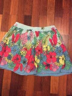 Pumpkin Patch Floral Skirt