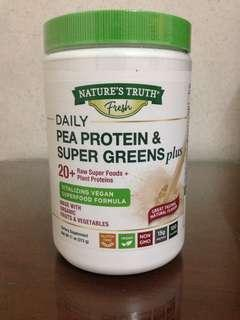 Pea Protein Powder with Super Greens Vegan 312 g