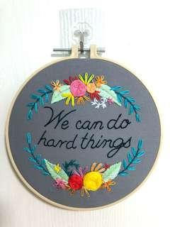 Wall art embroidery