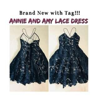 ❗️REPRICED!!! Brand new with tag: Annie and Amie Black lace dress