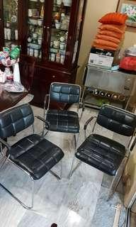 Rush sale! Black leather dining chairs