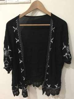 Black and white lace cardigan #MFEB20