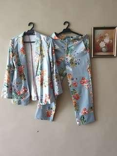 Floral Set Blazer & Pants