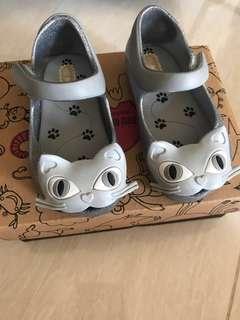 🚚 USA6 Mini Melissa ultragirl II silver glitter cat