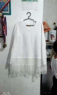 Anotah Fringe Sweater