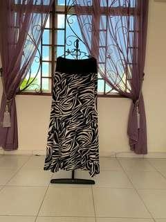 Black&white abstract skirt
