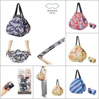 <包順豐智能櫃> Marna Shupatto Compact Bag 快速收納購物環保袋 M Size (和柄款)
