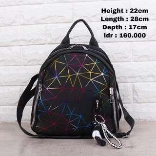 Tas Ransel Backpack Garis