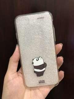 Case Iphone 7 We Bare Bears Pan Pan Miniso