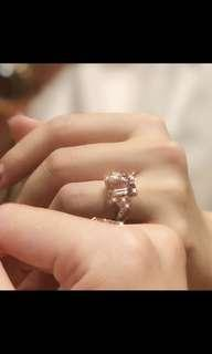 Authentic Pink Morganite Ring with Diamonds