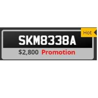 Car plate SKM8338A for Sale
