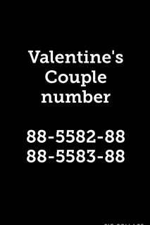 Valentine's Day couple golden number