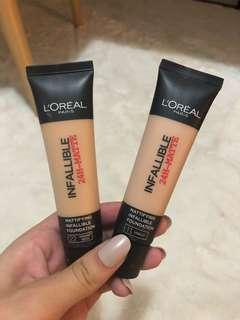 L'oréal infallible 24h- matte foundation
