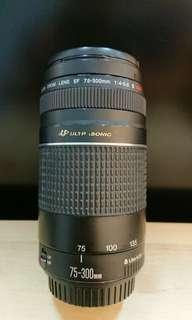 Canon EF75-300mm lll USM Lens Used