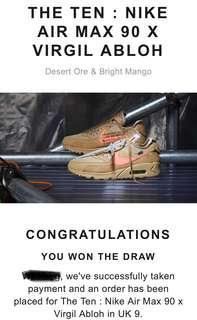 Nike Airmax 90 x Off-White (Desert Ore)