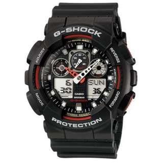 BRAND NEW Casio G Shock Watch GA-100-1A4DR New