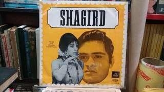 "Rare Vintage Hindi Bollywood Hindustan Angel Record SHAGIRD 2XJE 1150 33rpm 12"" 1967 1st Recording Piring Hitam"