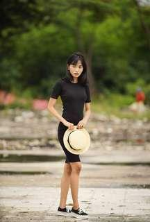 Love Bonito Black Ribbed Dress