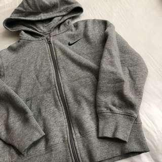 Grey NIKE zip up hoodie