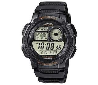 🚚 Casio Men's AE-1000W-1AVCF Resin Sport Watch with Black Band