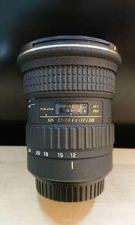 Tokina AT-X PRO SD 12-24mm Lens Used