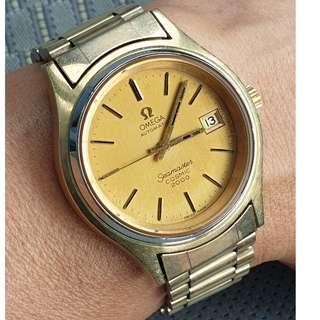 (A361) Vintage 1974 Gold Cap Omega Seamaster Cosmic 2000 Watch