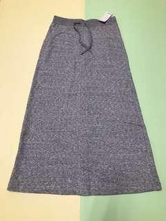 🚚 Uniqlo灰色棉長裙