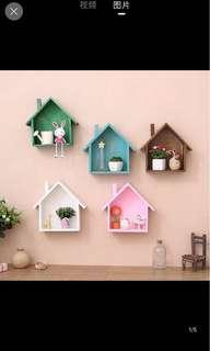 American Wood Home Shape Wall Decoration