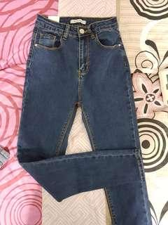🚚 Dark blue high waisted push up jeans