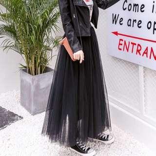 🚚 黑色紗裙 長裙