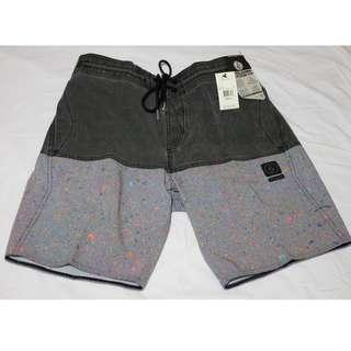 Volcom Vibes Half Stoney Board Shorts - Asphalt