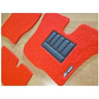 NV350 FRONT DRIVER/PAX FLOOR CARPET MATS 03 PCS WITH NV350 LOGO ON DRIVER SIDE.... COLOR AVAILABLE - BLACK, RED ,GREY ,BEIGE ,BROWN ,GREEN & BLUE...