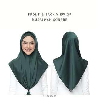 🚚 Musalmah Square Shawl by Nyleascarf - Emerald Green
