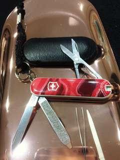 🇨🇭隨身迷你瑞士刀 五合一 全長6cm 含皮套