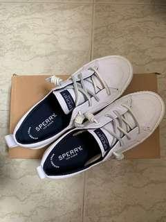 Sperry Crest Vibe Creeper Linen Sneakers (White)