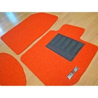MITSUBISHI COLT OEM FITMENT CAR FLOOR MATS. PVC CARPET MAT RALLIART LOGO 5 PCS COLOR AVAILABLE - BLACK ,RED,GREY,GREEN ,BEIGE ,BROWN & BLUE...
