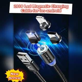 🚚 2019 Led Magnetic Charging Cable for IOS Andriod Phone