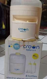 Crown Electric steam sterilizer 8 bottles ( steril botol susu)