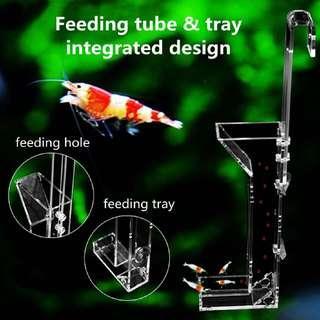 Clear Acrylic Shrimp Feeding Tube Tray Aquarium Fish Tank Granule Food Feeder
