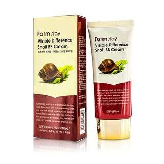 FARMSTAY VISIBLE DIFFERENCE SNAIL BB CREAM 50G SPF 40 PA++