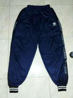 Adidas Blue Satin Training Pants Celana Olahraga
